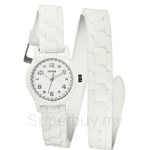 Guess W65023L1 Ladies Sport Extra Long White Silicone Strap Watch