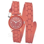 Guess W65023L4 Ladies Sport Extra Long Orange Silicone Strap Watch