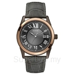 Guess W10613G1 Gents Dress Grey Leather Watch