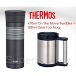 THERMOS 470ml On The Move Tumbler + 280ml Desk Top Mug