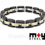 M+Y STEEL Trio II Men Bracelet - 101-428