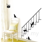IR KoreaDeco Series - STAIRWAY CATS (50cmx70cm)