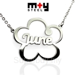 M+Y STEEL Personalise Name Pendant - 107-031