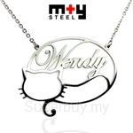 M+Y STEEL Personalise Name Pendant - 107-035