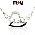 M+Y STEEL Personalise Name Pendant - 107-038