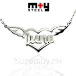 M+Y STEEL Personalise Name Pendant - 107-041