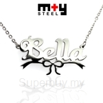 M+Y STEEL Personalise Name Pendant - 107-043