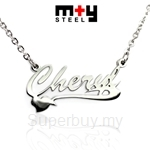 M+Y STEEL Personalise Name Pendant - 107-049