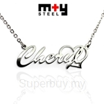 M+Y STEEL Personalise Name Pendant - 107-051