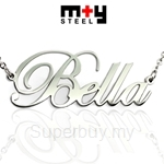 M+Y STEEL Personalise Name Pendant - 107-067