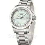 Longines Ladies Conquest Quartz Diamonds Watch - L3.281.0.87.6