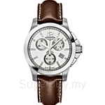 Longines Ladies Conquest Brown Leather Quartz Chronograph Watch - L3.279.4.76.5