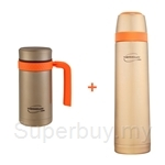 Thermos 450ml Thermocafe Perfect Living Mug + 700ml Thermocafe Perfect Living Flask