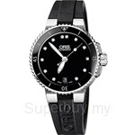 Oris Aquis Date Diamonds Automatic Womens Watch - 73376524194RS