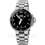 Oris Aquis Date Diamonds Automatic Womens Watch - 73376524194MB
