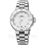 Oris Aquis Date Diamonds Automatic Womens Watch - 73376524191MB
