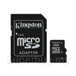 Kingston Micro SDHC 4GB Class 10 (With Adapter)