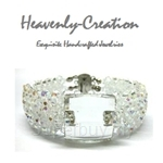 Heavenly Creation Elegant Square Double Decker Bracelet - 302B