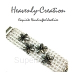 Heavenly Creation Flower Netting Bracelet - 308B