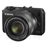 Canon EOS M EFM 18-55 18.0MP Digital Interchangeable Lens Camera + 8GB SD Card + Camera Jacket + Strap