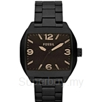 Fossil Men's Roland Black Stainless Steel Watch - JR1360