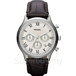 Fossil Men's Ansel Brown Leather Chronograph Watch - FS4738