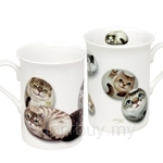 HCF Bone China Mug Set of 2 Henry Cats - HBM1-8A