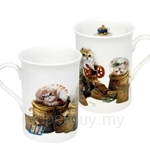 HCF Bone China Mug Set of 2 Henry's Cafe - HBM1-54