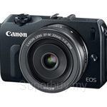 Canon EOS M Kit EFM 22 Lens + EF Mount Camera + 8GB SD Card + Camera Jacket + Strap