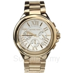 Michael Kors MK5635 Women's Yellow Gold Plated Chronograph Watch