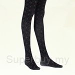 Deparee Fashion Jacquard Tights-Hue Circles and Diamond Pattern 60D - FP6253