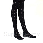 Deparee Fashion Jacquard Tights-Hue Small flowers and Dots Pattern 60D - FP6254
