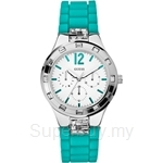 Guess W10615L4 Ladies Sport Blue-Green Silicone Multifunction Watch