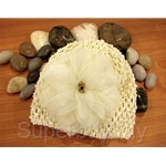 Bumble Bee Crochet Ivory Beige Headwear - HB0054