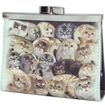 HCF Synthetic Leather Coin Purse Square Henry Cats - FCP3A-8A