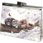 HCF Synthetic Leather Coin Purse Square Spring Blossom - FCP3A-31