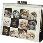 HCF Synthetic Leather Coin Purse Square Cats in the Box - FCP3A-41A