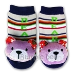 Bumble Bee Funky Toes Purple Bear Footwear - RT0027