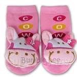 Bumble Bee Funky Toes Pink Cow Footwear - RT0028