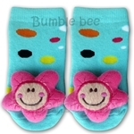 Bumble Bee Funky Toes Pink Flower Footwear - RT0029