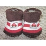 Bumble Bee Terry Socks Boy Red Car Footwear - S0069