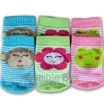 Bumble Bee Piece Terry Socks Girls Smiling Face Friends Footwear - S0071