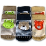 Bumble Bee 3 Piece Terry Socks Boys Smiling Face Friends Footwear - S0072