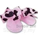 Bumble Bee Socks Girls Pink Princess Chenille Footwear - S0074