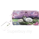 HCF PVC Multifuctional Pouch with Mirror PVC Cherry Blossom - FMP4-48
