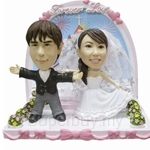 Q-Family - Wedding Couple with Landscape 1 Mini Figurine