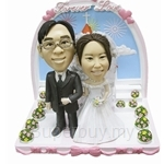 Q-Family - Hand in Hand Wedding Couple Mini Figurine