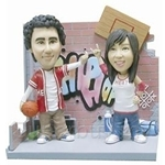 Q-Family - Hip Hop Basketball Couple Mini Figurine