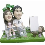 Q-Family - Garden Couple Mini Figurine