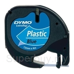 DYMO Black on Blue LetraTag Plastic Tapes-Personal Labelmakers - SMOP91205